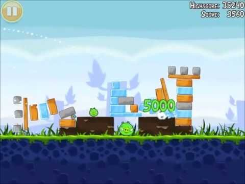 Official Angry Birds Walkthrough Poached Eggs 1-15