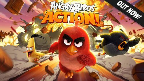 Angry Birds Action (Плакат)