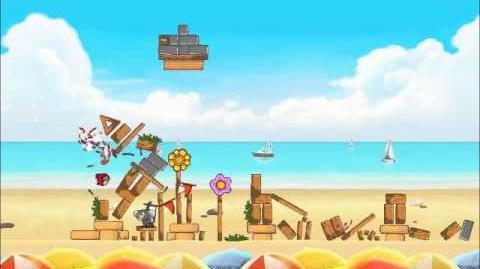 Official Angry Birds Rio Walkthrough Beach Volley 5-9