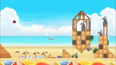 Official Angry Birds Rio Walkthrough Beach Volley 6-10
