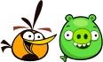 Оранжевая птица и свинья-шарик