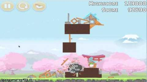 Sakura Ninja フジテレビ - Level 01 ~ 3 Star Strategy Angry Birds FujiTV