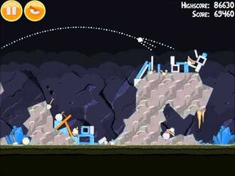 Official Angry Birds Walkthrough Mine and Dine 15-4