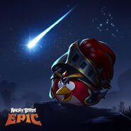 Red Elite Knight Epic Poster