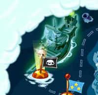 Корабль призрак на карте