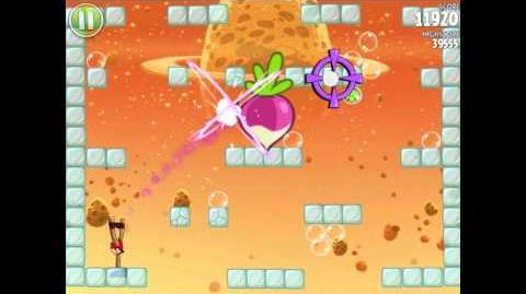 Angry Birds Space E-4 Cold Cuts Golden Eggesteroid (Egg) 4 Walkthrough 3 star