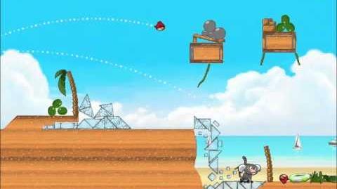 Official Angry Birds Rio Walkthrough Beach Volley 6-11