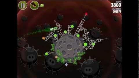 Angry Birds Space Danger Zone Level 10 Walkthrough 3 Star