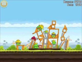 Official Angry Birds Walkthrough The Big Setup 10-7