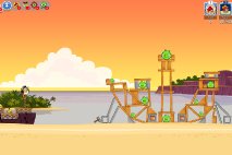 Thumbs Angry-Birds-Friends Pigni Beach Uroven 11