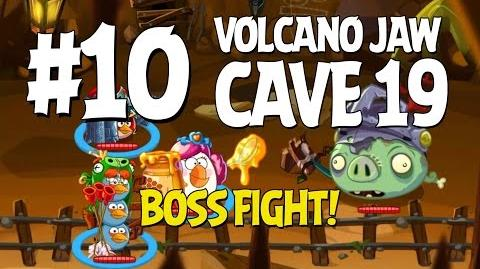 Angry Birds Epic Cave 19 Boss Fight! Level 10 - Volcano Jaw - 3 Star Walkthrough - iOS, Android