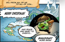 Little Timmy in Angry Birds Christmas Comic