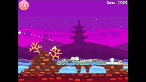 """Angry Birds Seasons Mooncake Festival Golden Egg 24 Walkthrough """"Golden Mooncake"""""""
