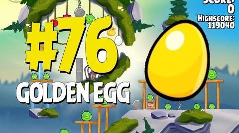 Angry Birds Seasons Summer Camp Golden Egg 76 Walkthrough