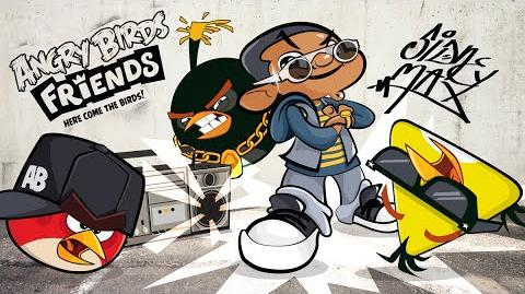 Angry Birds Friends Hip Hop Tournament gameplay trailer with special guest Sidney Max