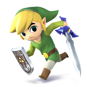 SSB4 - Toon Link Artwork
