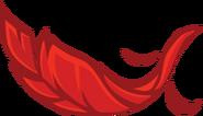 Pluma de Rojo