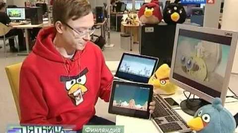 Репортаж про Angry Birds на канале Россия 2 - iScientist
