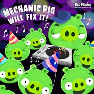 Mechanic pig will fix it 8 party with boombox by greenpig828-d5zf1wm