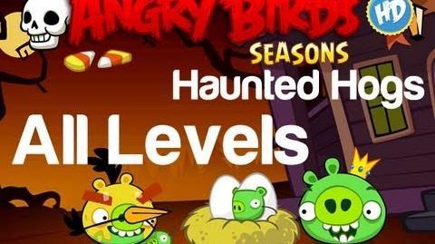 Angry Birds Seasons - Haunted Hogs All Levels 3 Star Walkthrough Levels 1-1 thru 1-20 w Golden Egg