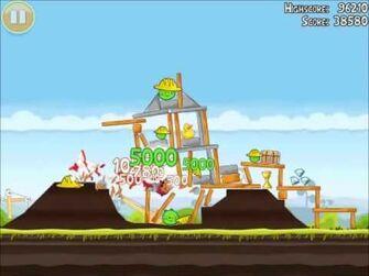 Official Angry Birds Walkthrough The Big Setup 10-6