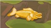 Золотая статуэтка рыбы кои