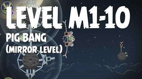 Angry Birds Space Pig Bang Level M1-10 Mirror World Walkthrough 3 Star