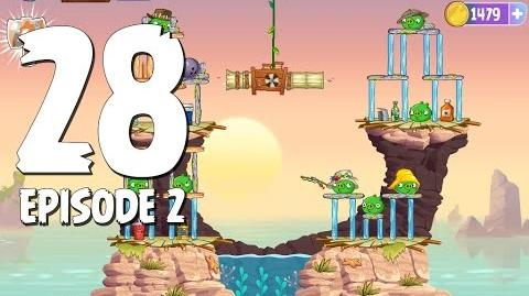 Angry Birds Stella Level 28 Episode 2 Beach Day Walkthrough