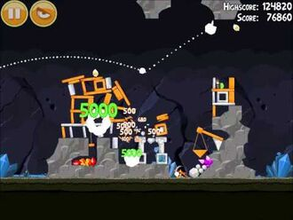Official Angry Birds Walkthrough Mine and Dine 15-8