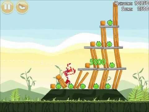 Official Angry Birds Walkthrough Poached Eggs 2-3