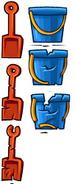 Лопаты и ведёрки