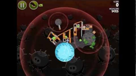 Angry Birds Space Danger Zone Level 21 Walkthrough 3 Star