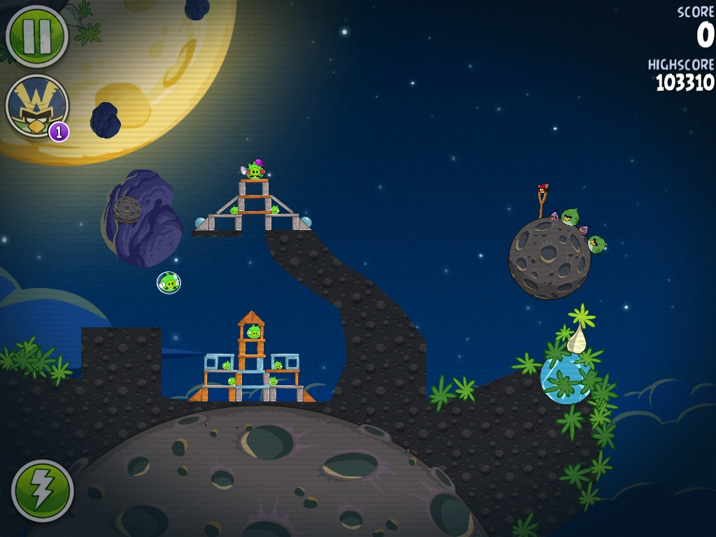 angry birds space mirror world