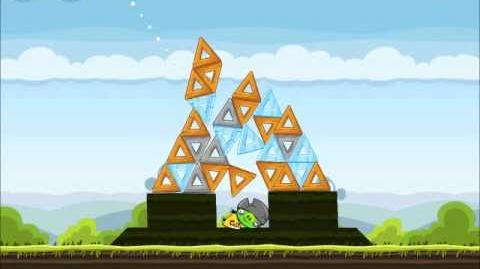 Official Angry Birds Walkthrough Mighty Hoax 4-17