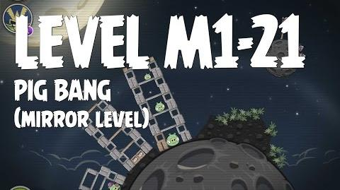 Angry Birds Space Pig Bang Level M1-21 Mirror World Walkthrough 3 Star