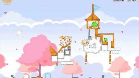 Official Angry Birds Seasons Walkthrough Hogs and Kisses 1-13