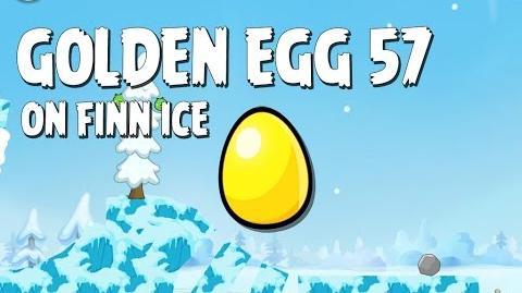 Angry Birds Seasons On Finn Ice Golden Egg 57 Walkthrough