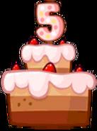Birdday 5 Cake