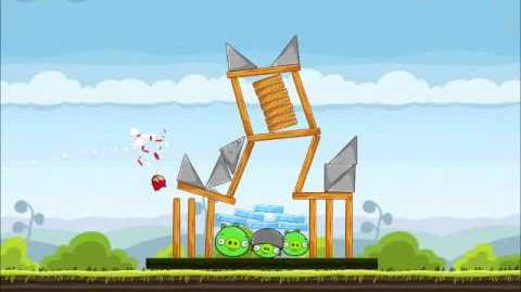 Official Angry Birds Walkthrough Mighty Hoax 4-1