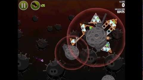 Angry Birds Space Danger Zone Level 26 Walkthrough 3 Star