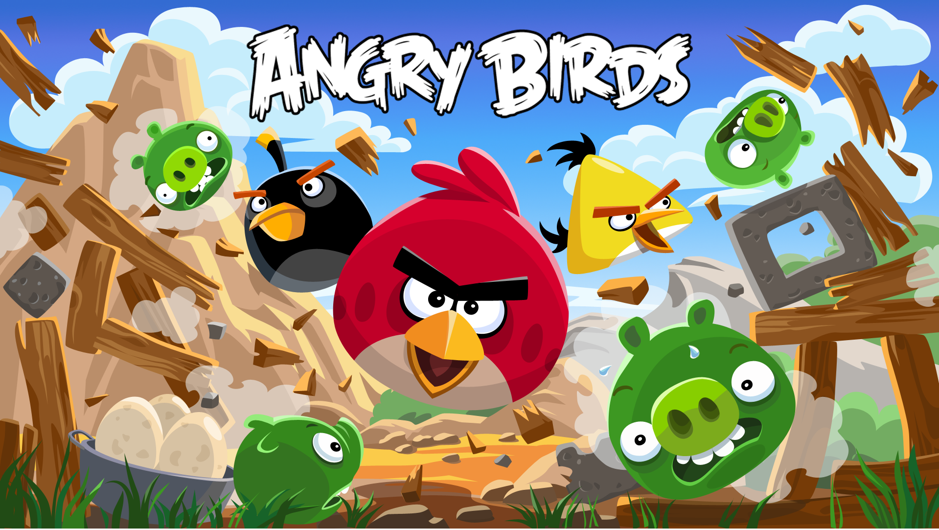 Angry bird game for android phone