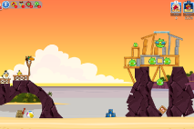 Thumbs Angry-Birds-Friends Pigni Beach Uroven 12