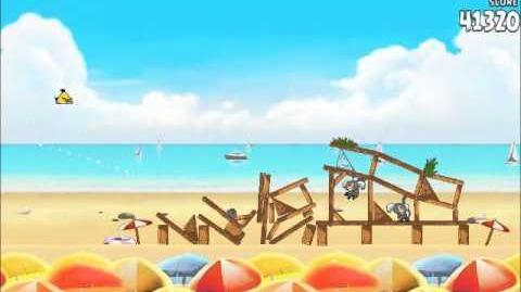 Official Angry Birds Rio Walkthrough Beach Volley 5-8