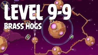 Angry Birds Space Brass Hogs 9-9 Walkthrough 3 Star