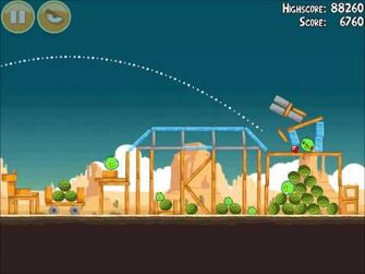 Official Angry Birds Walkthrough Ham 'Em High 13-4