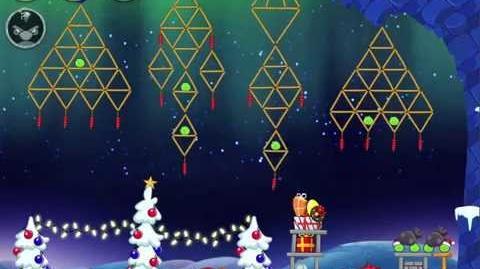 Angry Birds Seasons On Finn Ice Golden Egg level 56 Walkthrough