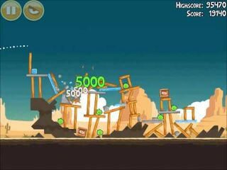Official Angry Birds Walkthrough Ham 'Em High 14-9