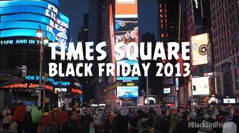 Angry Birds take over Times Square on Black Bird Friday 2013