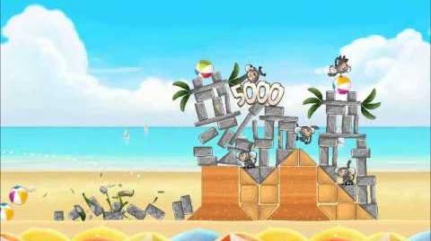 Official Angry Birds Rio Walkthrough Beach Volley 5-12