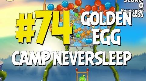 Angry Birds Seasons Summer Camp Golden Egg 74 Walkthrough